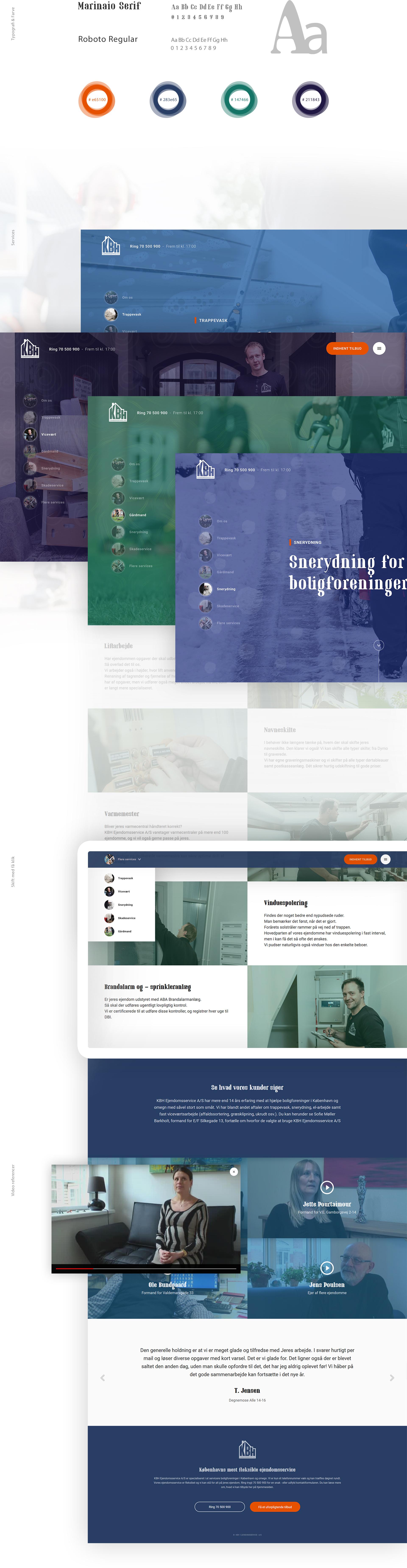 Kbh ejendomsservice typografi og farver